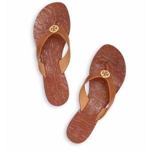 Tory Burch Brown Thora Flat Sandals